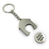 House shaped trolley keychain 35x39x4mm with your logo image