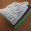 Microfiber cleaning cloth 32 x 32cm printed with your logo image