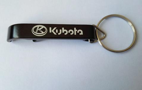 Bottle opener keyring of aluminium with your logo image