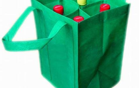 Custom printed PP non-woven wine bag for 4 bottles image