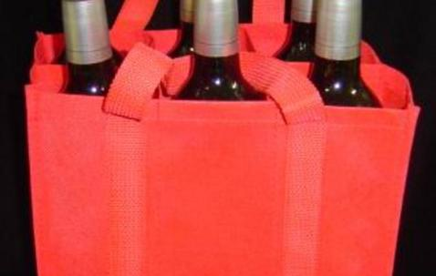 Custom printed PP non-woven wine bag for 6 bottles  image