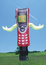 Custom printed inflatable skydancer 6 meter with blower image
