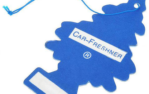 Paper car air freshener 70x100mm with your own design image