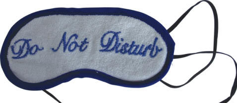 Sleeping mask of cotton terrycloth  with custom logo image