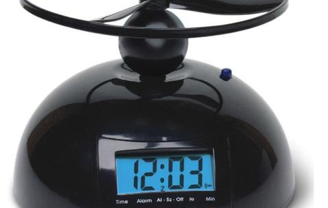 Custom branded flying alarm clock image