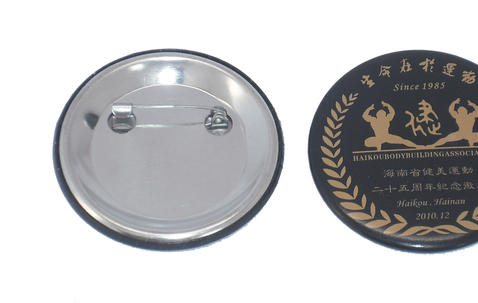 Metal button badge 40mm with custom print image