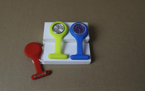 Silicone nurse watch with your custom logo image