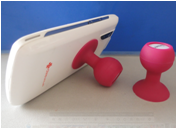 Silicone phone holder custom printed with your logo image