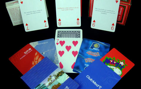 Bridge sized custom printed playing cards (57 x 87 mm) image