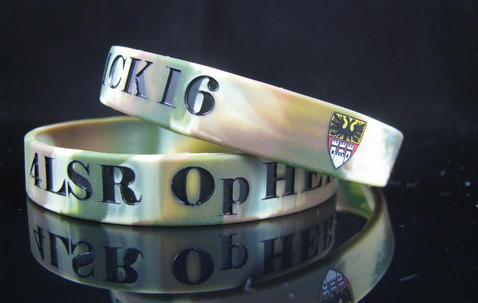 Standard Width Silicone Wristbands (12mm wide) Completely Customized image