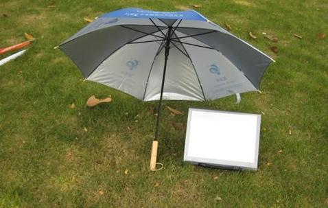"Custom printed straight umbrella 23"" image"