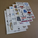 Fake tattoo A5 size (210x148mm) with custom print image