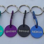 Aluminium stamped coin keychain image