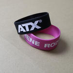 "Extra Wide Silicone Wristbands (25mm  / 1"" wide) Completely Customised  image"