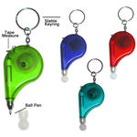 Keyring pen with tape measure image