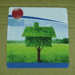 Microfiber lens cleaning cloth 14x14cm with custom print image