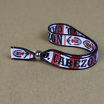 Polyester festival wristbands with bespoke  print image