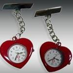 Heart shaped nurse watch with your custom logo image