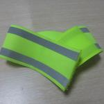 Elastic reflective safety armband 5cm wide printed with logo image