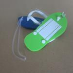 Slipper shaped luggage tag soft PVC 112 x 48mm with custom logo  image